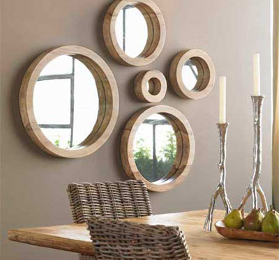 dekoratif salon ayna aksesuarları
