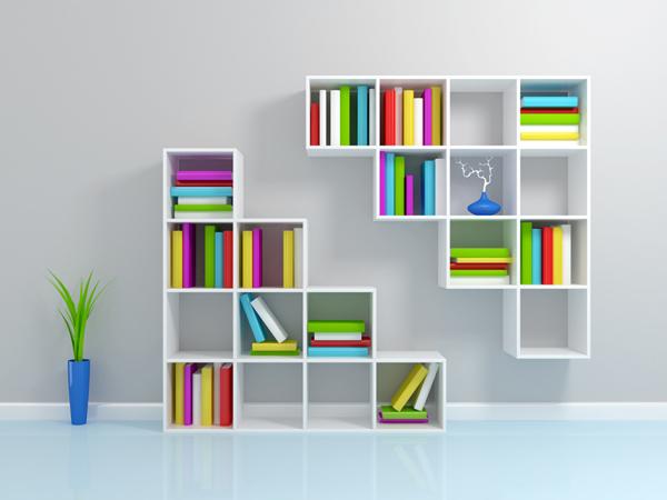 duvara monte kitaplık modelleri