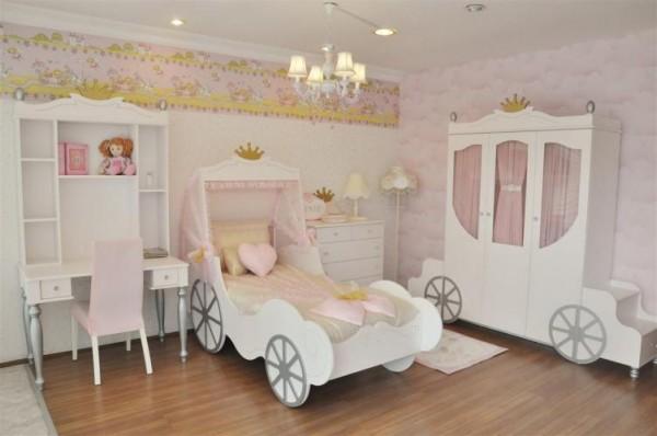 arabalı kız çocuk odası