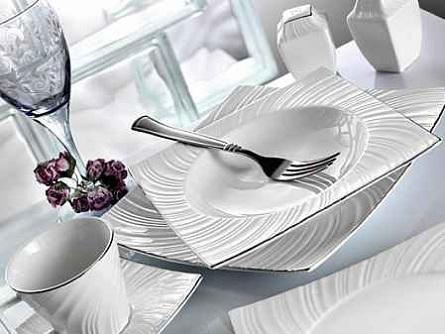 Beautiful karaca kare yemek takımları Modern Yemek Takımları