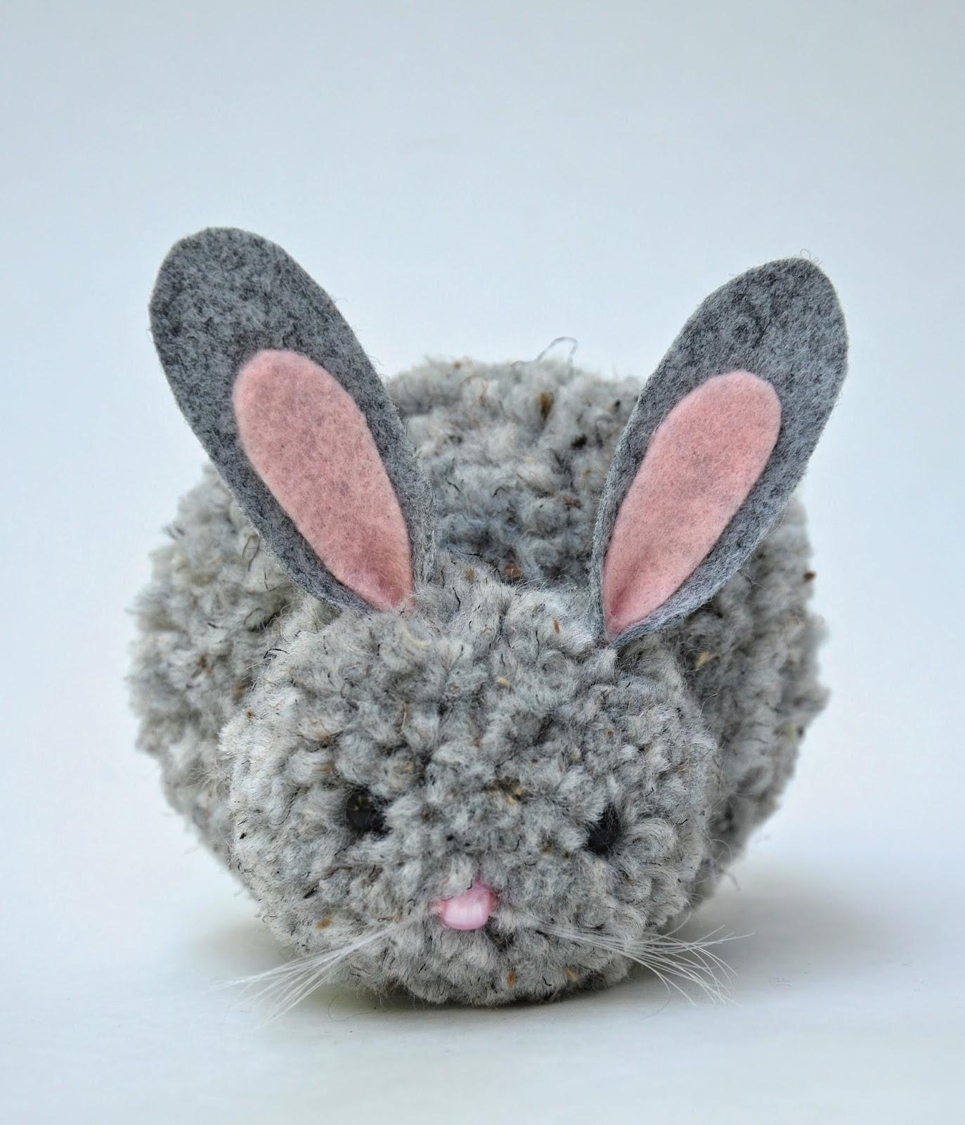 Beautiful Ponpon Oyuncak Tavşan Yapımı 15 ponpondan oyuncak yapımı
