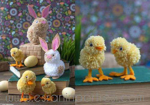 Cute 4 ponpon ile neler yapılır_mini ponpondan oyuncak yapımı