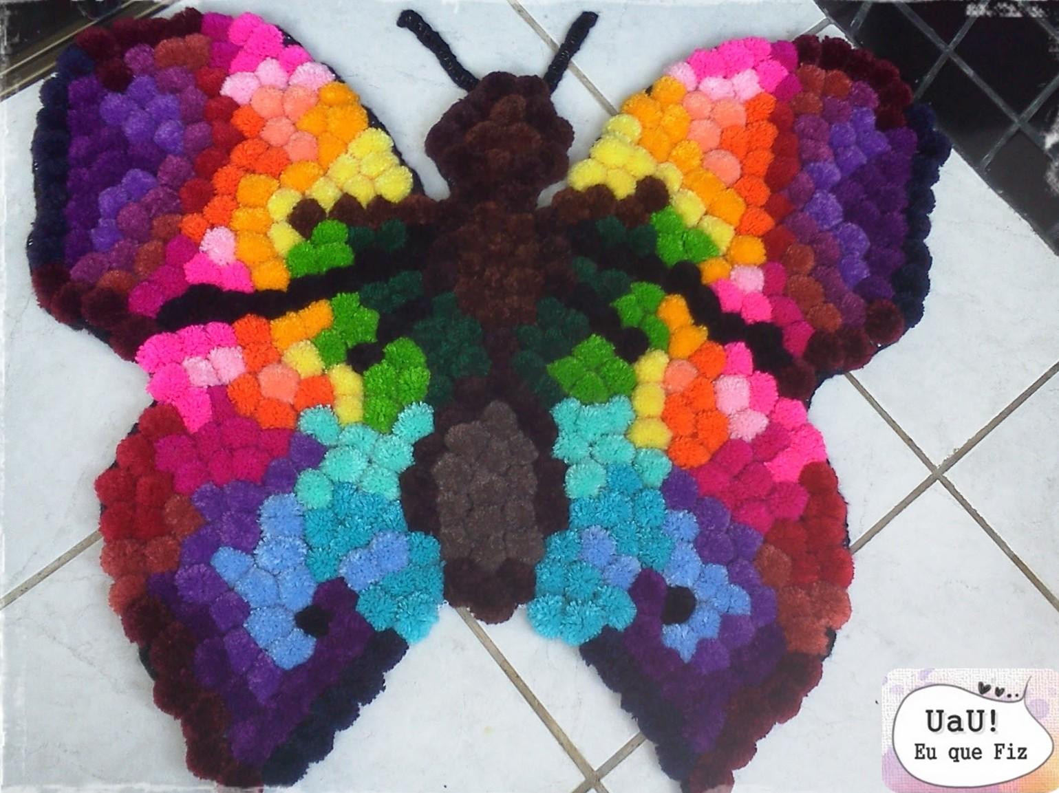 Elegant Kelebek ponpon paspas yapımı ponpondan oyuncak yapımı