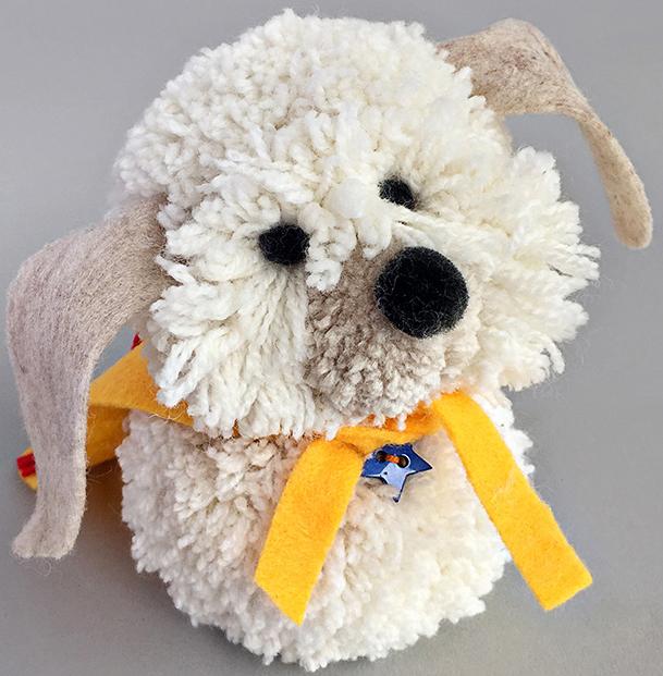 Elegant Ponpon köpek yapıyorum ponpondan oyuncak yapımı