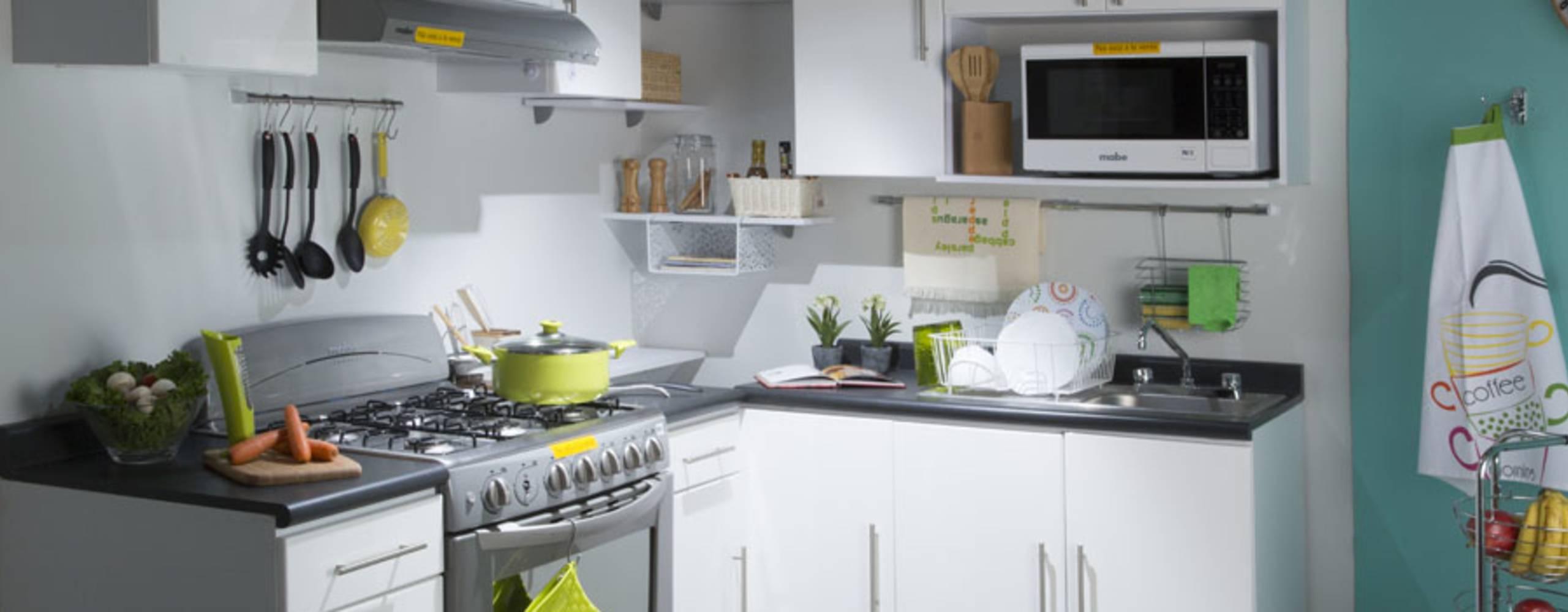 Master 1. Renk kombinasyonu küçük mutfaklar için eşya seçimi