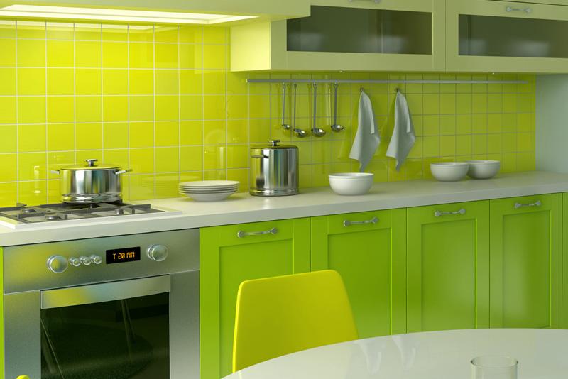 Master ... Küçük yeşil mutfak dolap küçük mutfaklar için eşya seçimi