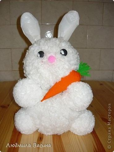 Master poşetten ponponlu tavşan yapımı ponpondan oyuncak yapımı