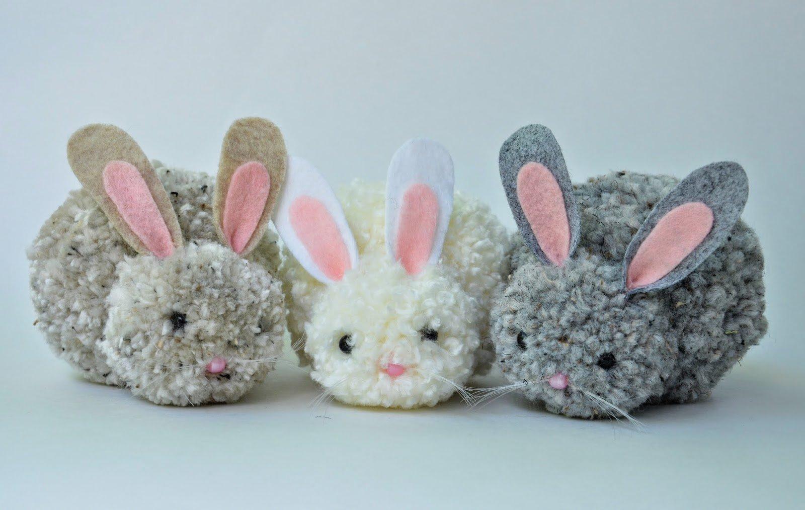 Modern Ponpondan Oyuncak Tavşan Yapılışı ponpondan oyuncak yapımı