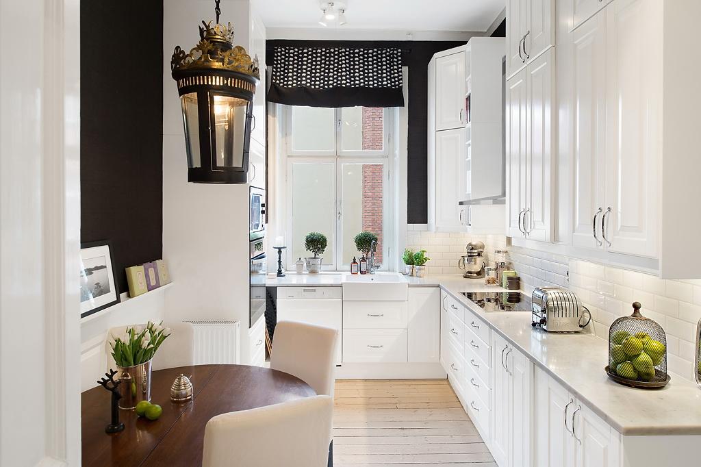 New 14 siyah beyaz mutfak dekorasyonu küçük mutfaklar için eşya seçimi