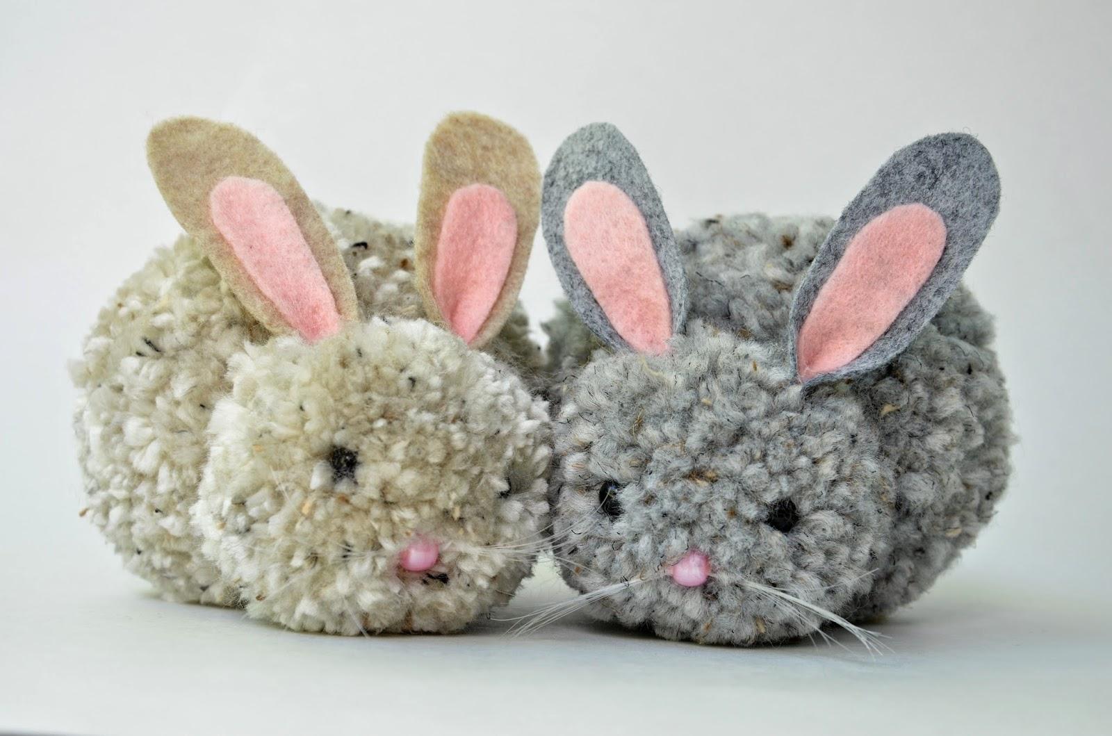 Chic Ponpon Oyuncak Tavşan Yapımı 10 ponpondan oyuncak yapımı