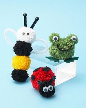 Stylish kolay Ponpondan Oyuncak Yapımı ponpondan oyuncak yapımı