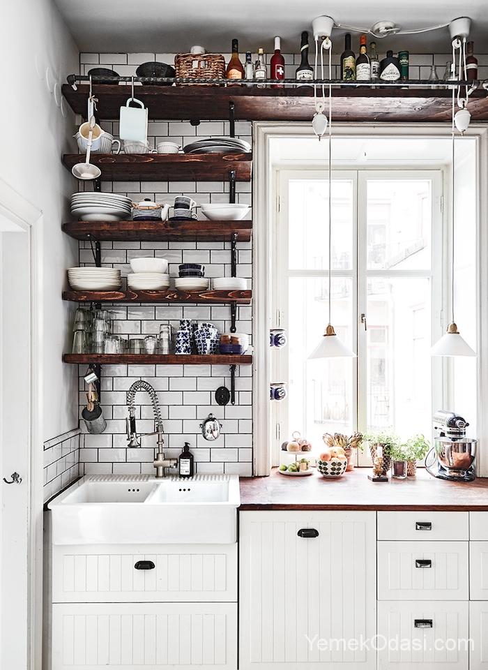 Unique Küçük mutfak dekorasyonu için yapabileceğiniz küçük mutfaklar için eşya seçimi