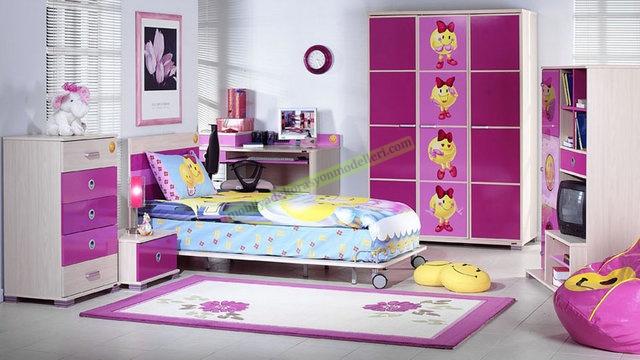 Cool Kelebek Çift kişilik çocuk odaları 2018 Kelebek Çocuk Odası Modelleri