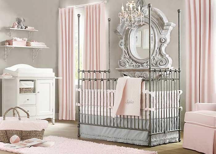 Awesome Kız Bebek Yatak Odası Dekorasyon Fikirleri