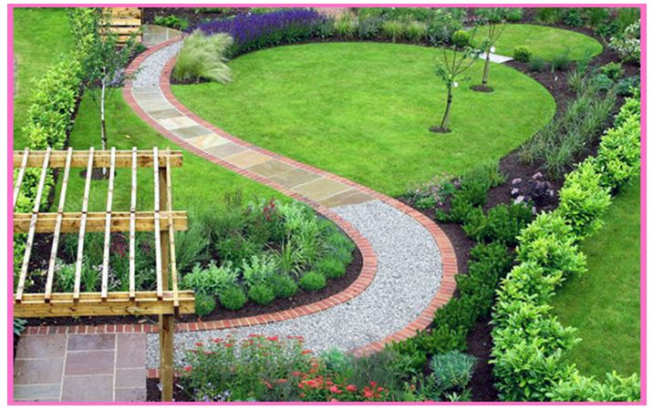 Chic bahçe Ev Peyzaj Bahçe Planlama