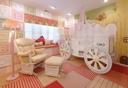 Compact İlginç Bebek Yatak Odası Dekorasyon Fikirleri
