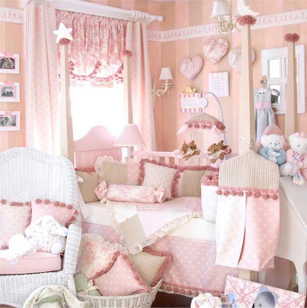 Cute ddekor-kız-bebek-odası-örnekleri-6 Bebek Yatak Odası Dekorasyon Fikirleri