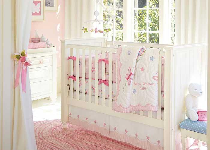 Elegant Kız Bebek Yatak Odası Dekorasyon Fikirleri