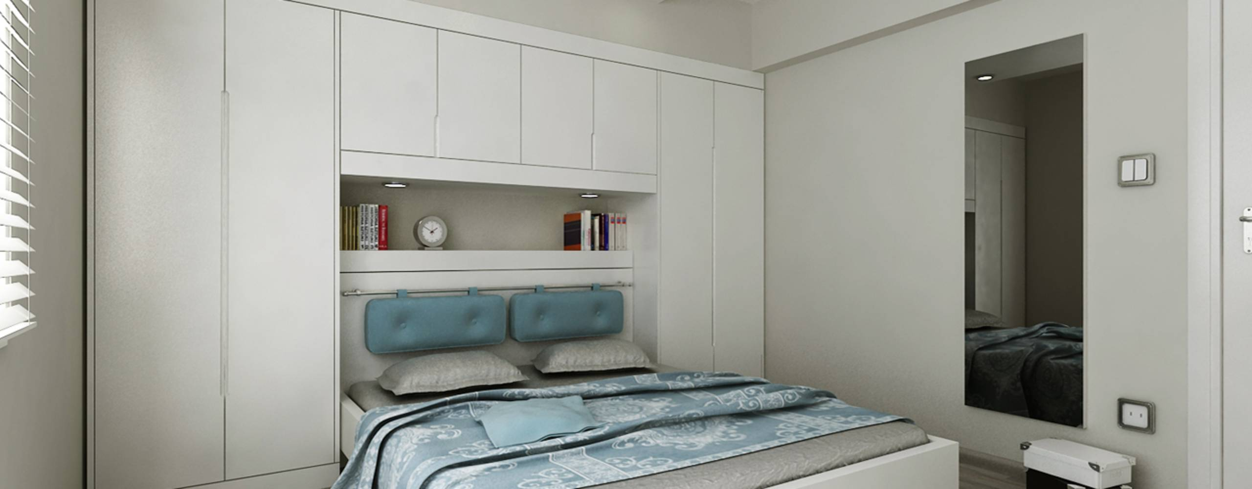 New Bembeyaz Bütçe bilinçli yatak odası dekorasyon fikirleri