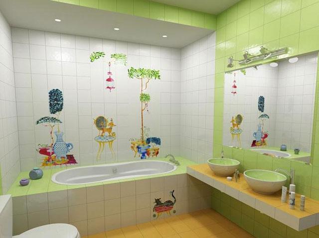 Best Çocuklar Çocuklar İçin  Banyo Dekorasyonu