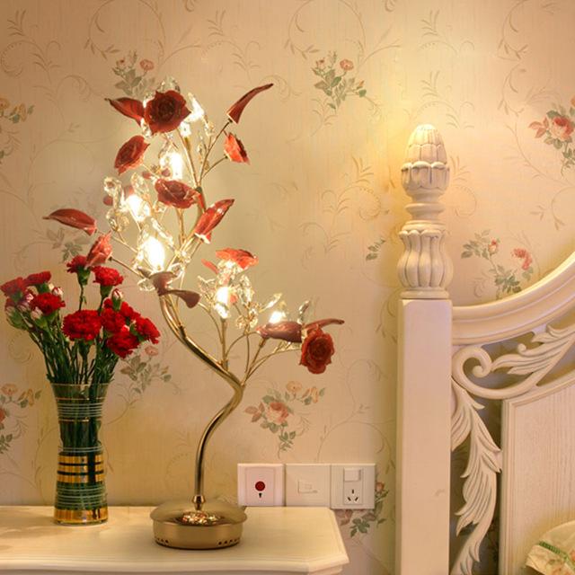 Avrupa tarzı lamba yatak odası baş ucu masa lambaları