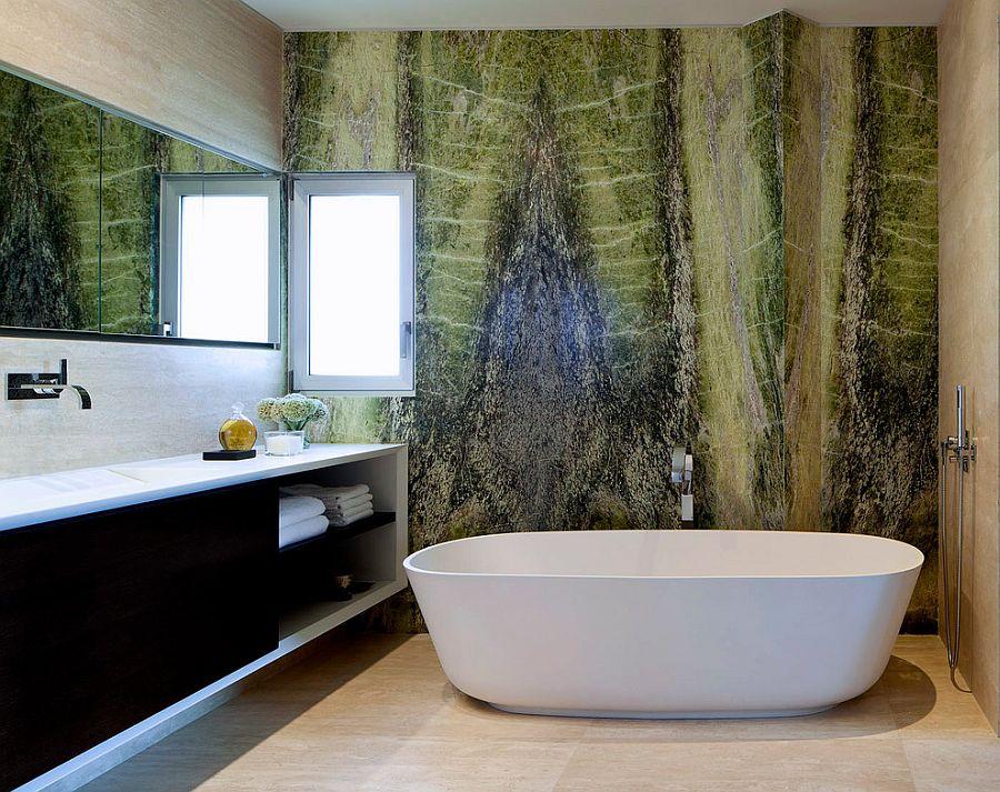 Taş Duvar Banyo Dekorasyonu
