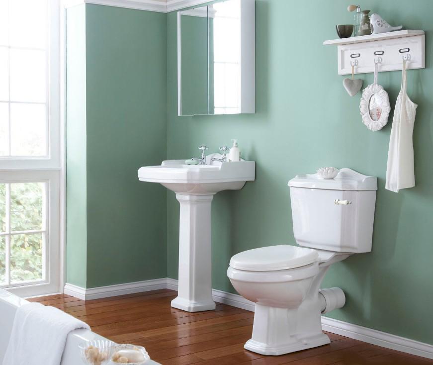 banyo yesil renk duvar dekorasyonu