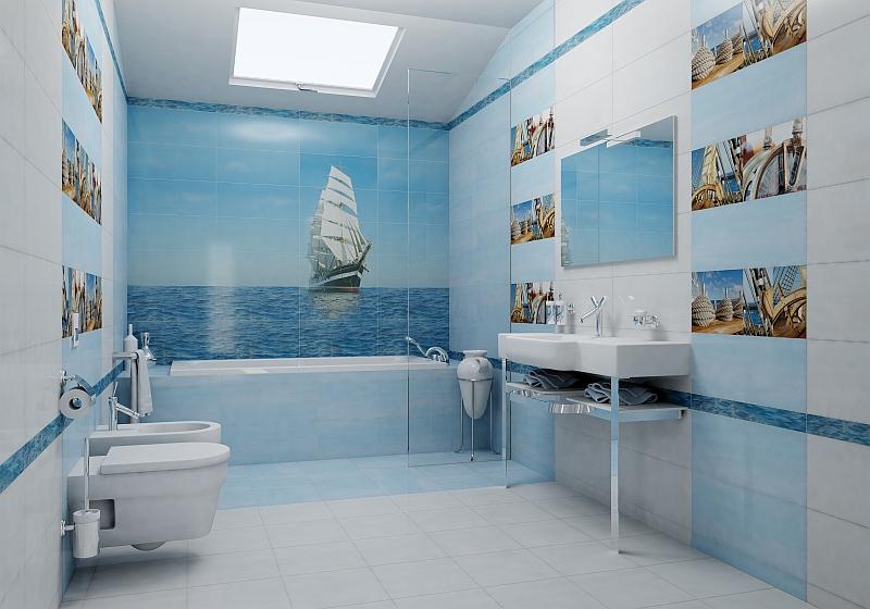 ferah banyo duvar dekorasyonu