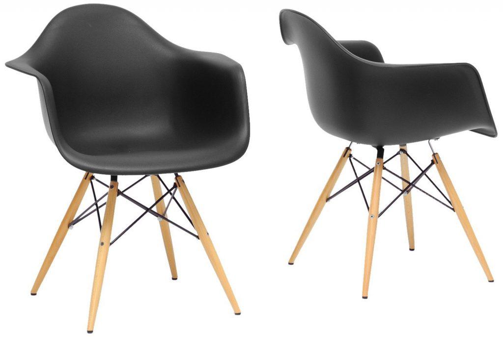 siyah modern sandalye