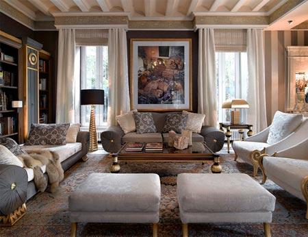 klasik salon dekorasyonu