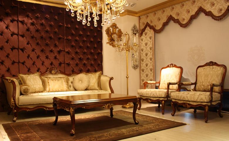 neo klasik salon dekorasyonu