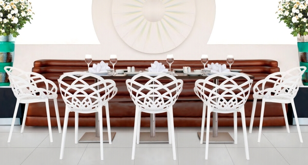 papatya dekoratif plastik sandalye